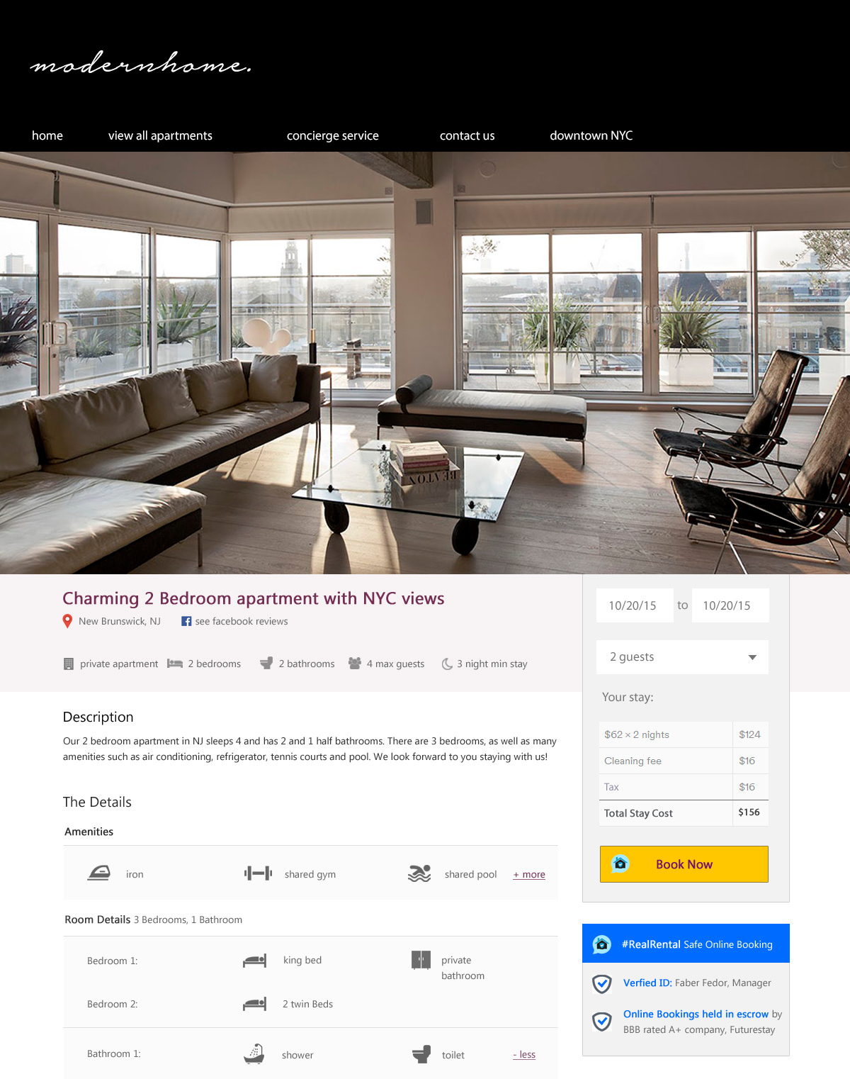 modern vacation rental website templates